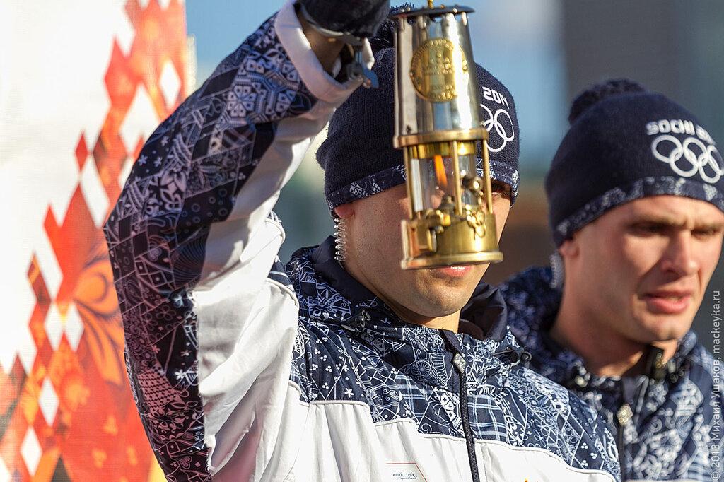 Олимпийский огонь в Вологде