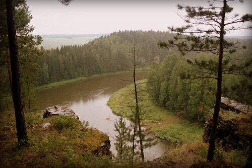 Фото реки Чусовой в районе села Мартьяново