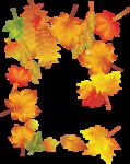 рамка  осень - листья желтые.png