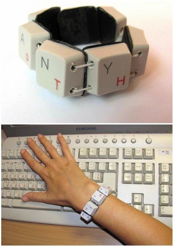 браслет из клавиатуры своими руками