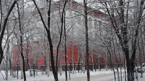 Фото города Инта №6295  Юго-западный угол Мира 2 (школа №5) (-7 градусов) 17.11.2013_12:22