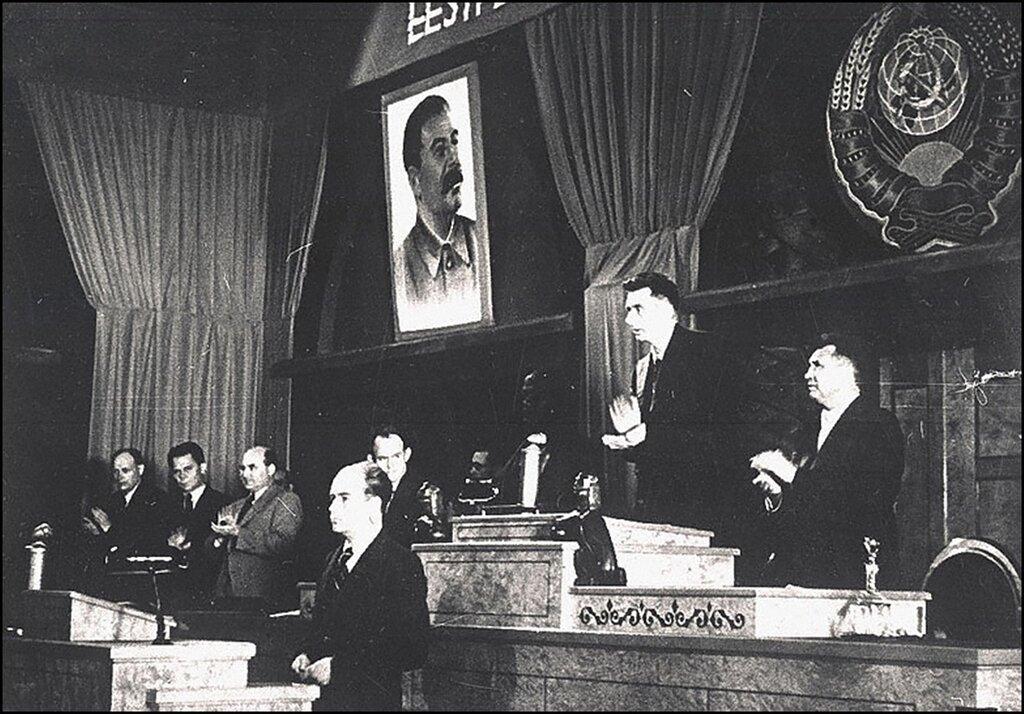 Президиум заседания Государственной Думы Эстонии. 1940 г.
