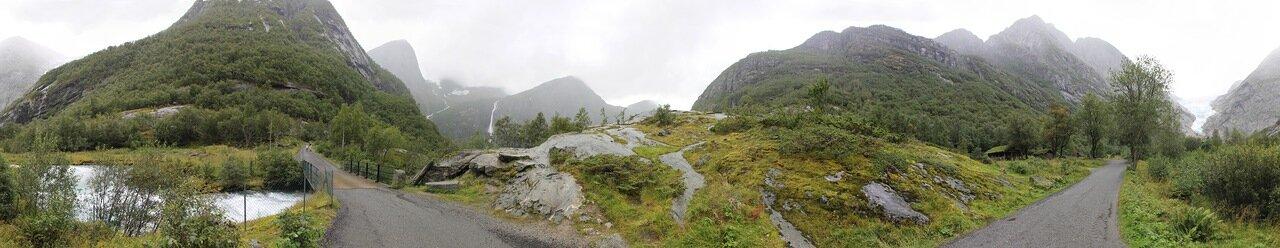 Прогулка к Леднику Бриксдалсбреен, panorama