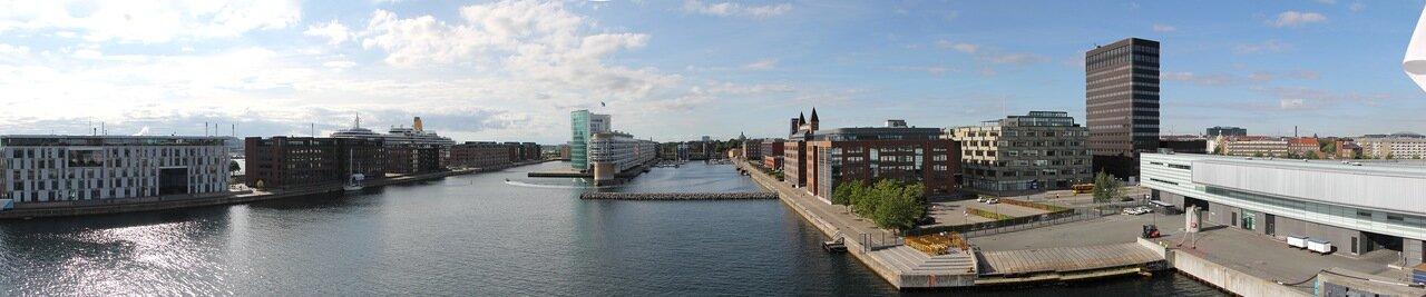 Copenhagen, Søndre Frihavn. Søndre Frihavn. Copenhagen, panorama