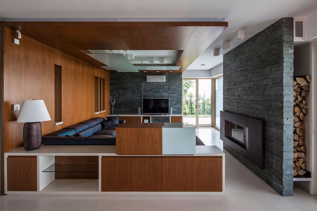 Toth Project, дом в Балатонбоглар, дома в Венгрии, дом на берегу озера, вид на озеро из окон дома, терраса на крыше дома, стильный интерьер дома