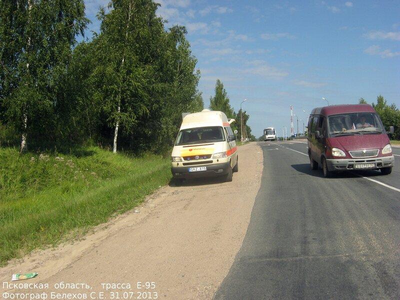 трасса е-95, Псков