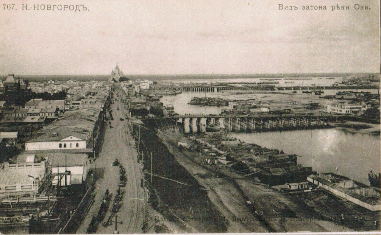 Вид затона реки Оки