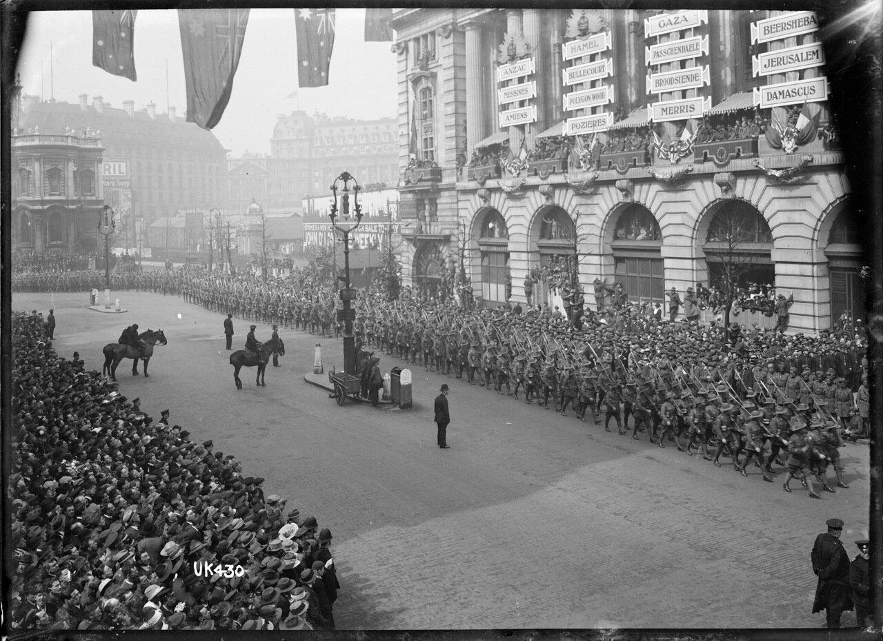 Австралийские войска в Лондоне