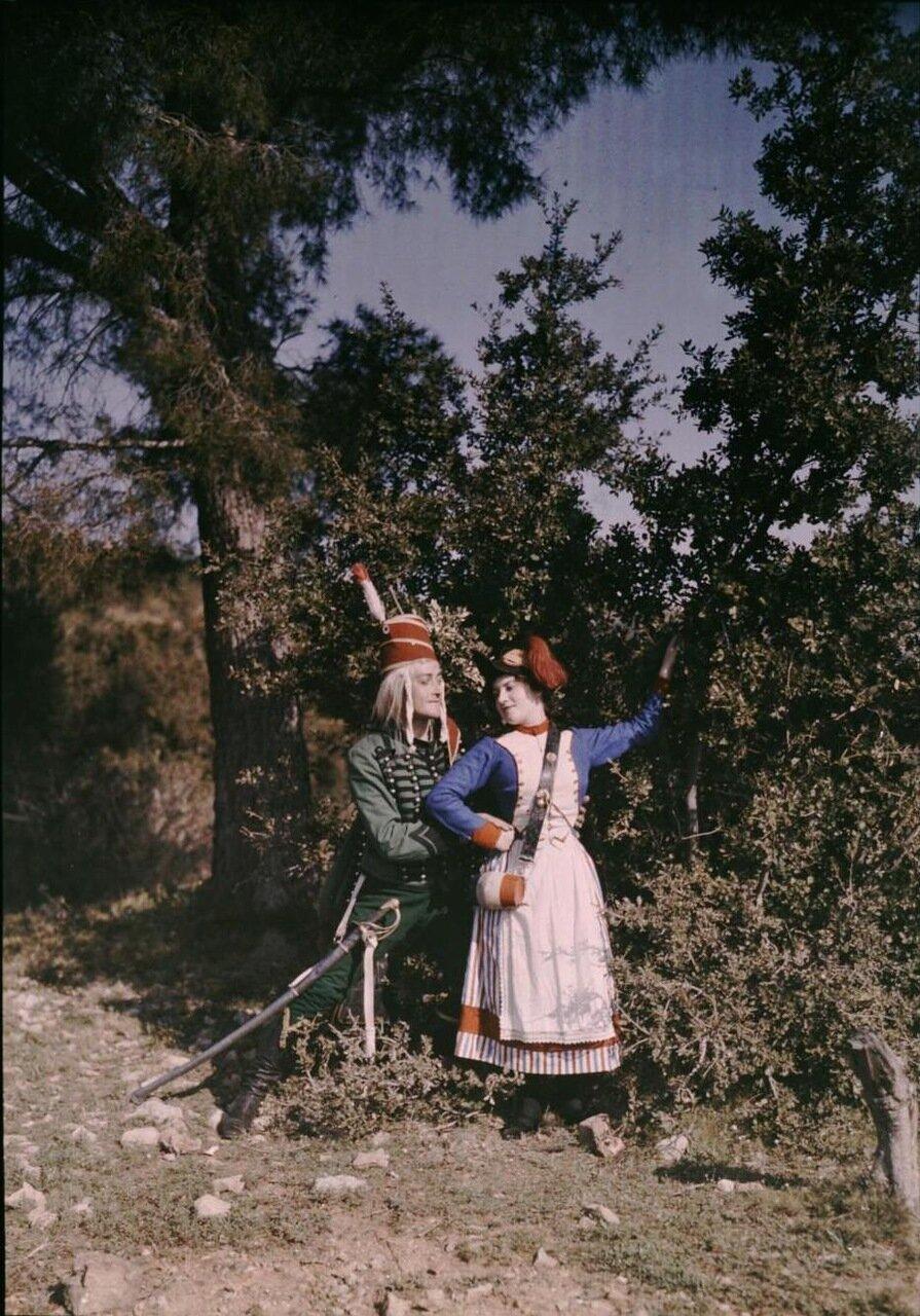 1907. Галантная костюмная сцена