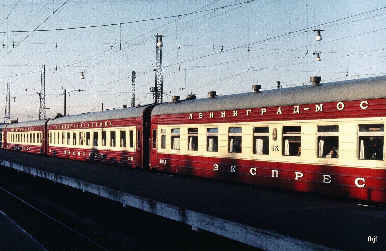 Russian train - Leningrad sta