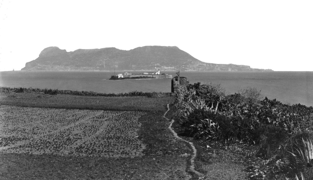 1890. Гибралтар из Альхесираса