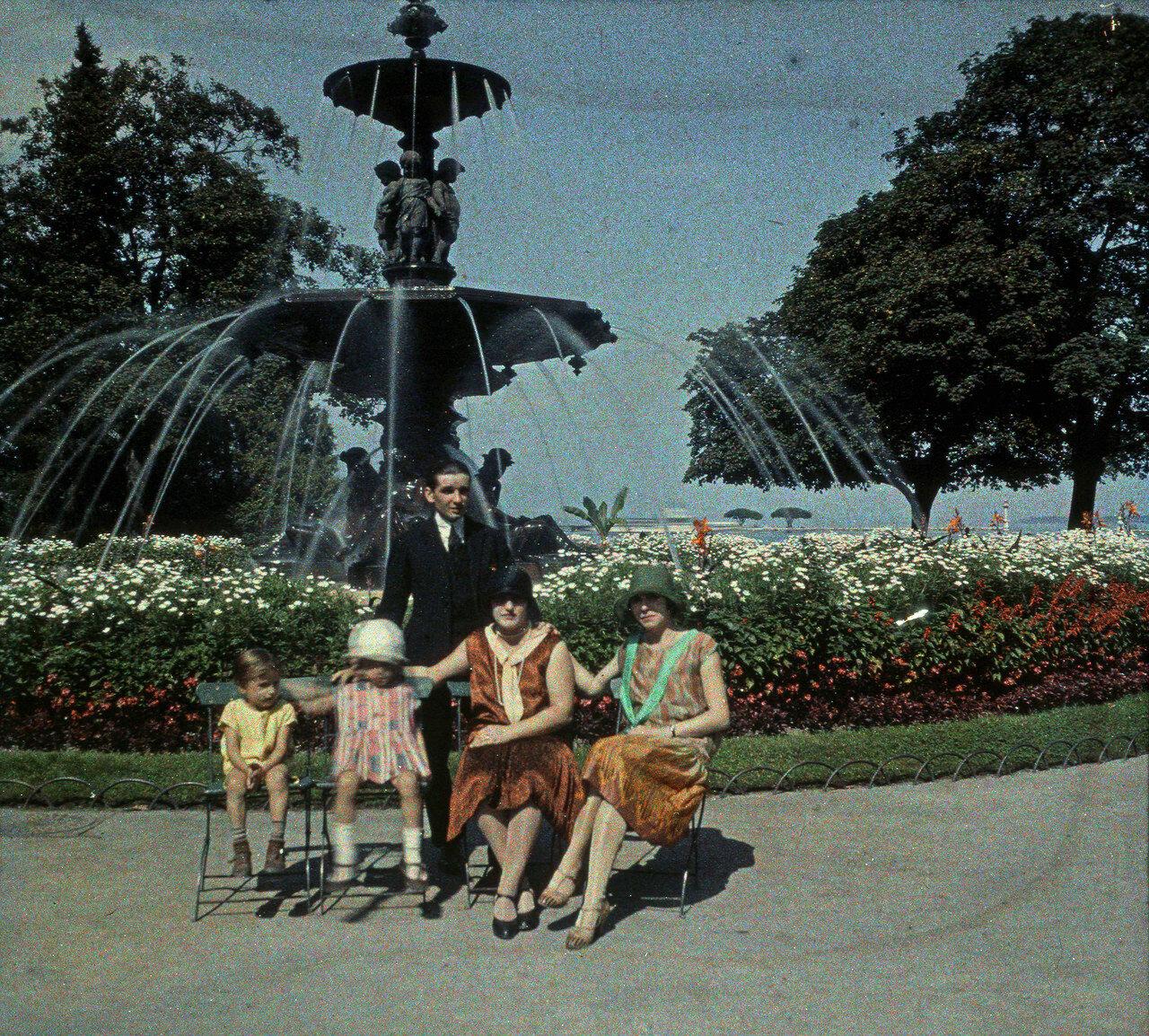 1930. Женева. Английский сад