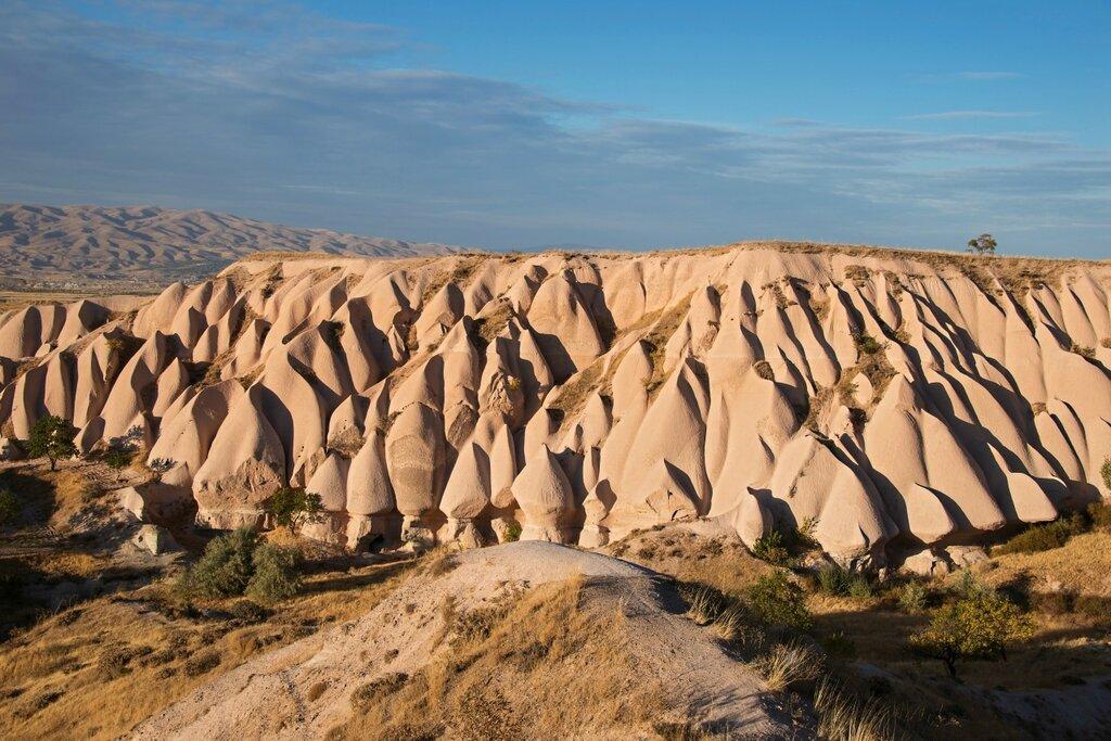 Unusual pink rocks near Uchisar town