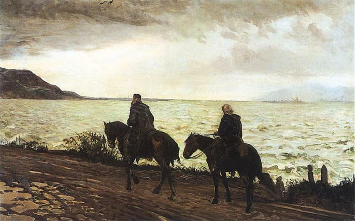 Дон Кихот и Санчо Панса,1895-1900__Яцек Мальчевский(1854 -  1929)