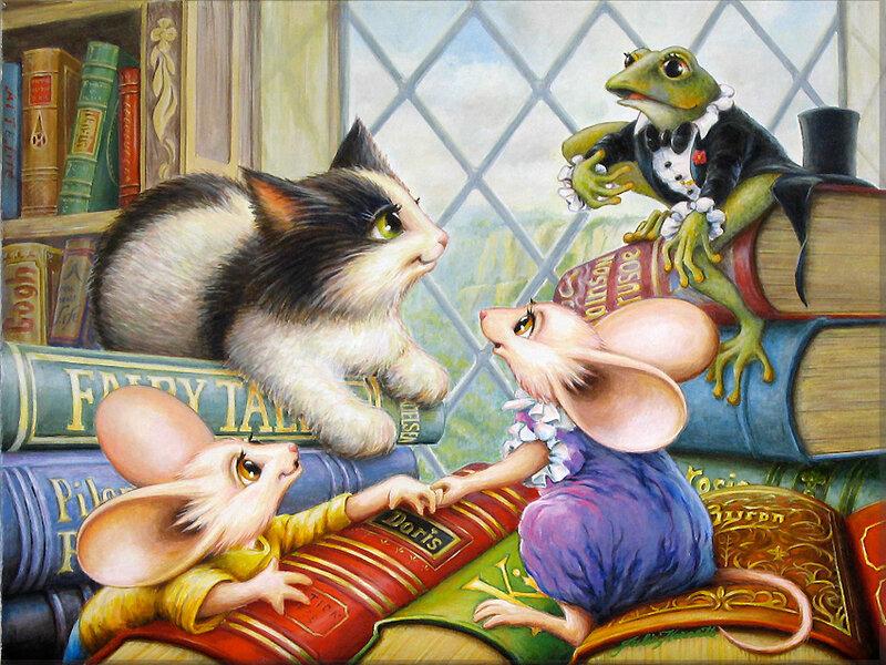 Сделаем, открытка мышка и кошка
