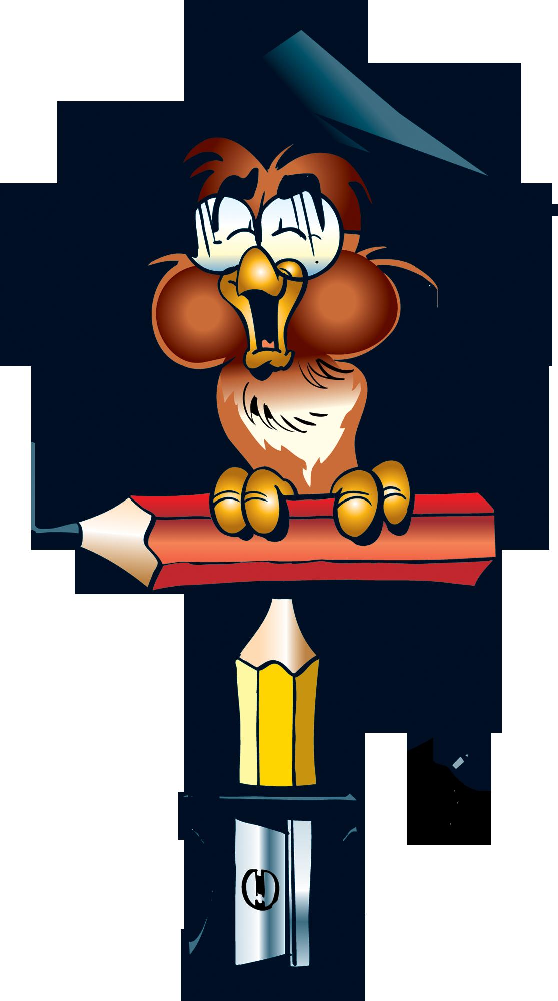 Картинка сова читающая