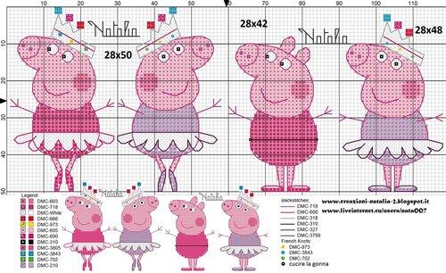 Схема свинки пеппы вышивка 224