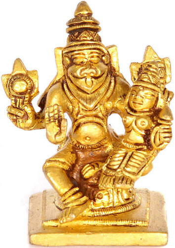 Lord Narasimha with shakti small sculpture