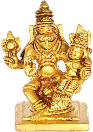 Lord Narasimha with shakti small sculpture
