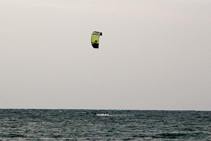 Кайтсерфер на Чёрном море