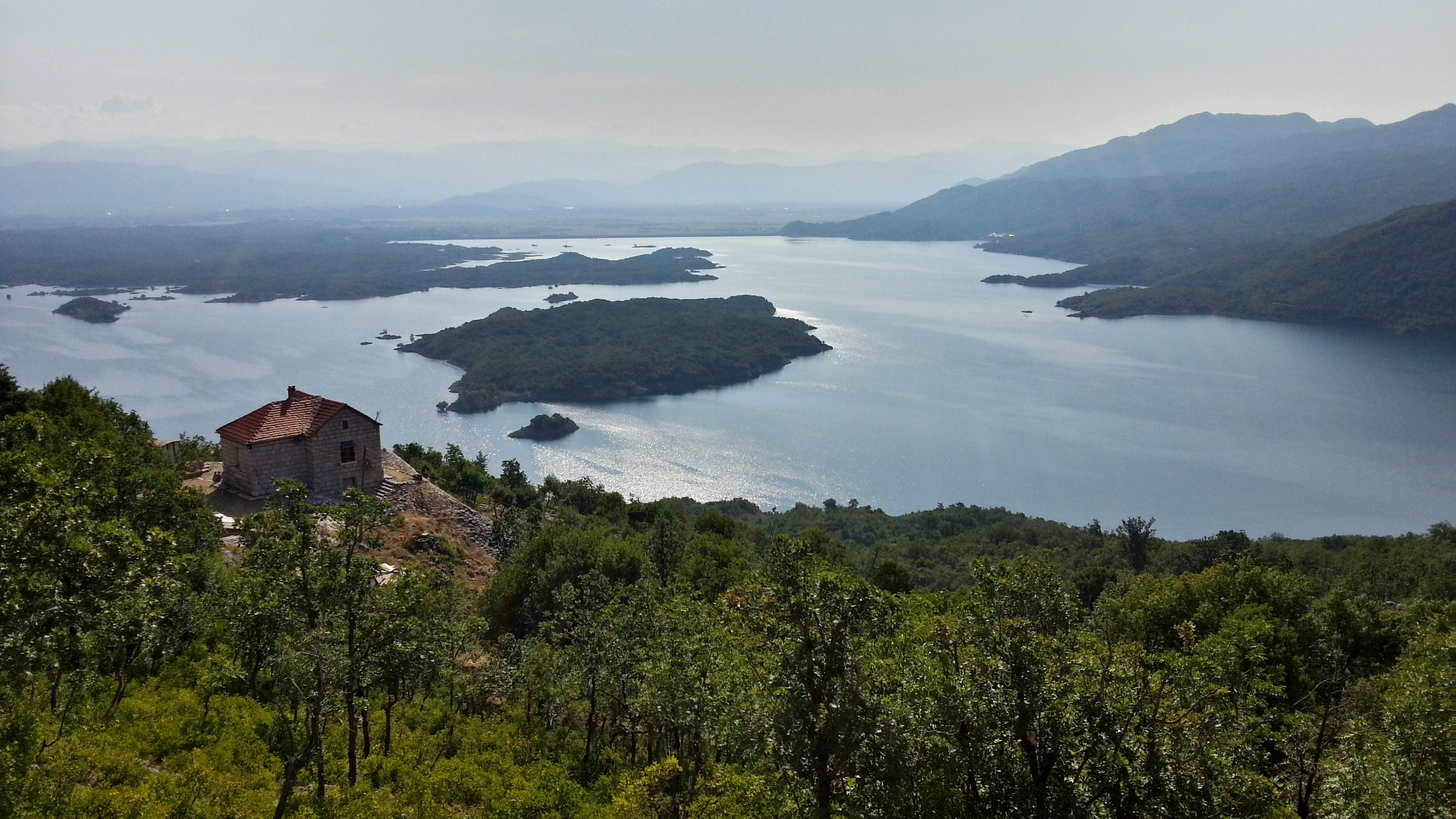 Вид на Slansko озеро.