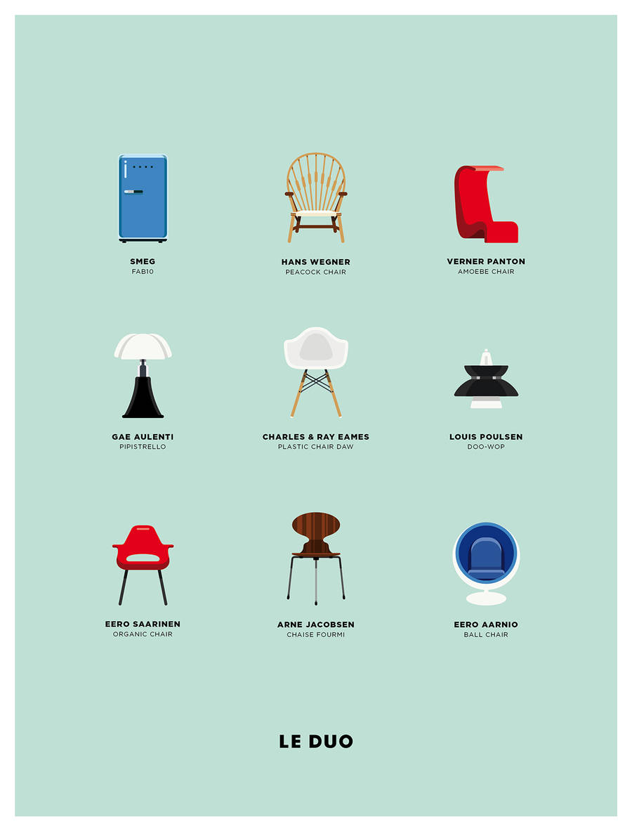 Characters, Architecture and Brands Icons