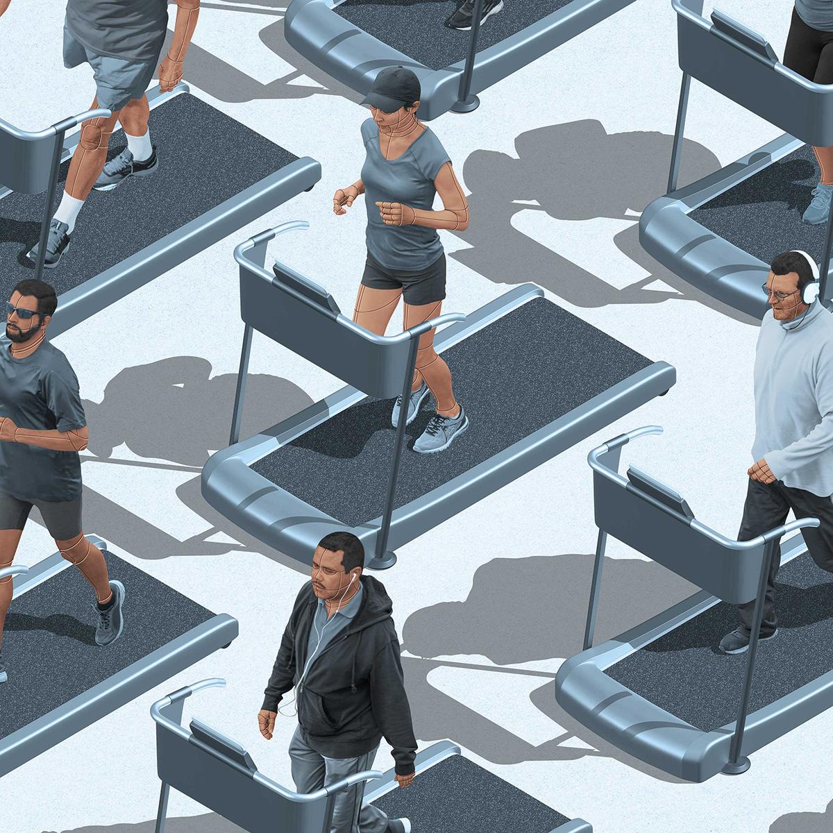 Sims-Like Digital Illustrations
