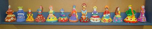 Дымковские Барыни (детские 9-10 лет)