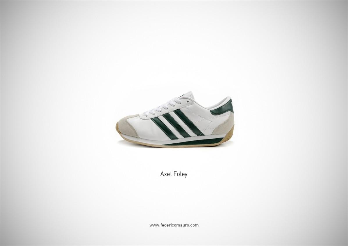 Знаменитая обувь культовых персонажей / Famous Shoes by Federico Mauro - Axel Foley