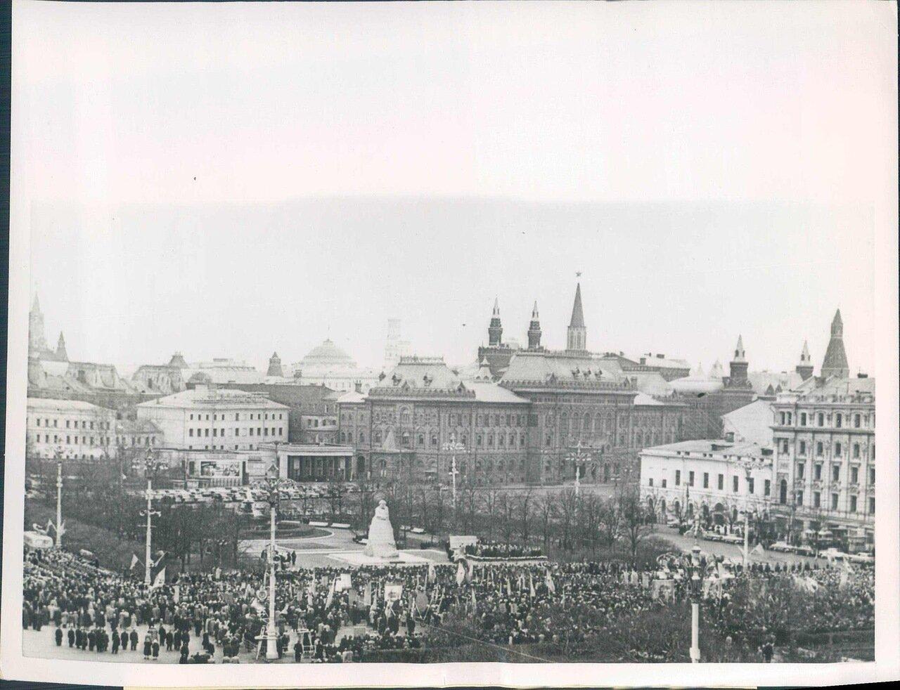 1961. Открытие памятника Карлу Марксу в Москве