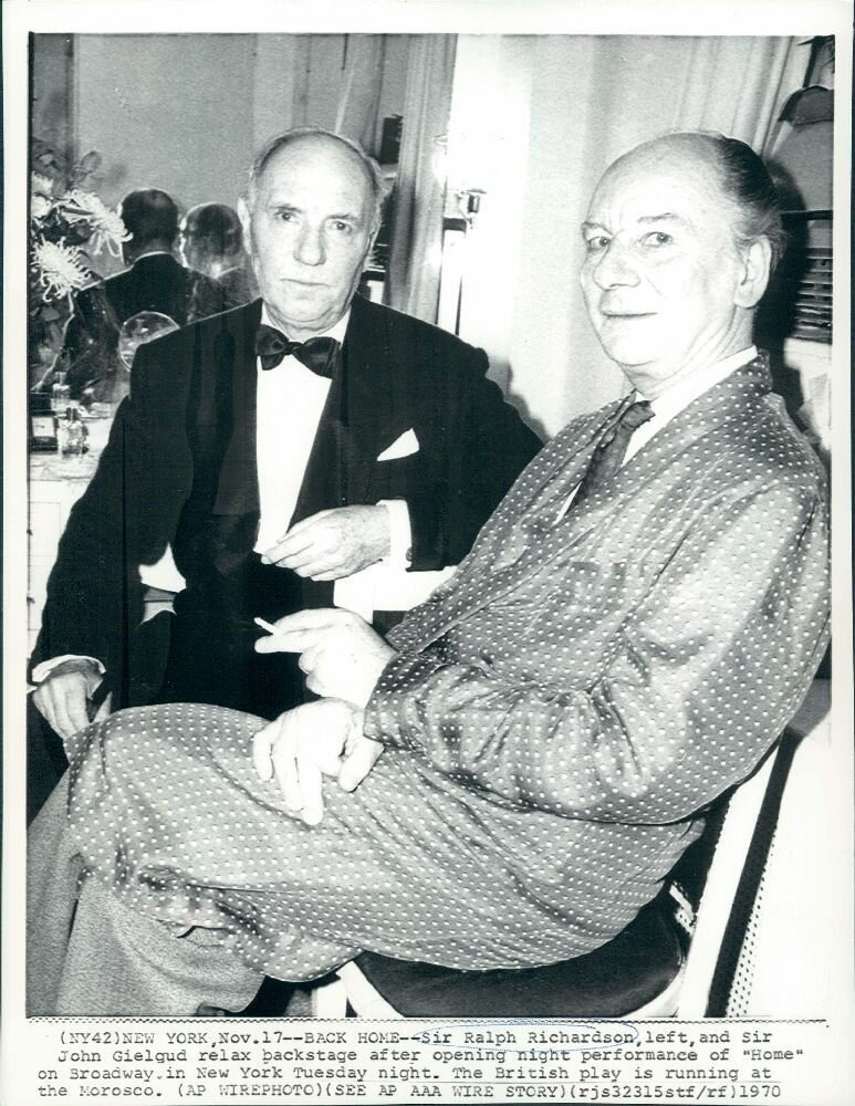 1970. Сэра Ральф Ричардсон и сэр Джон Гилгуд