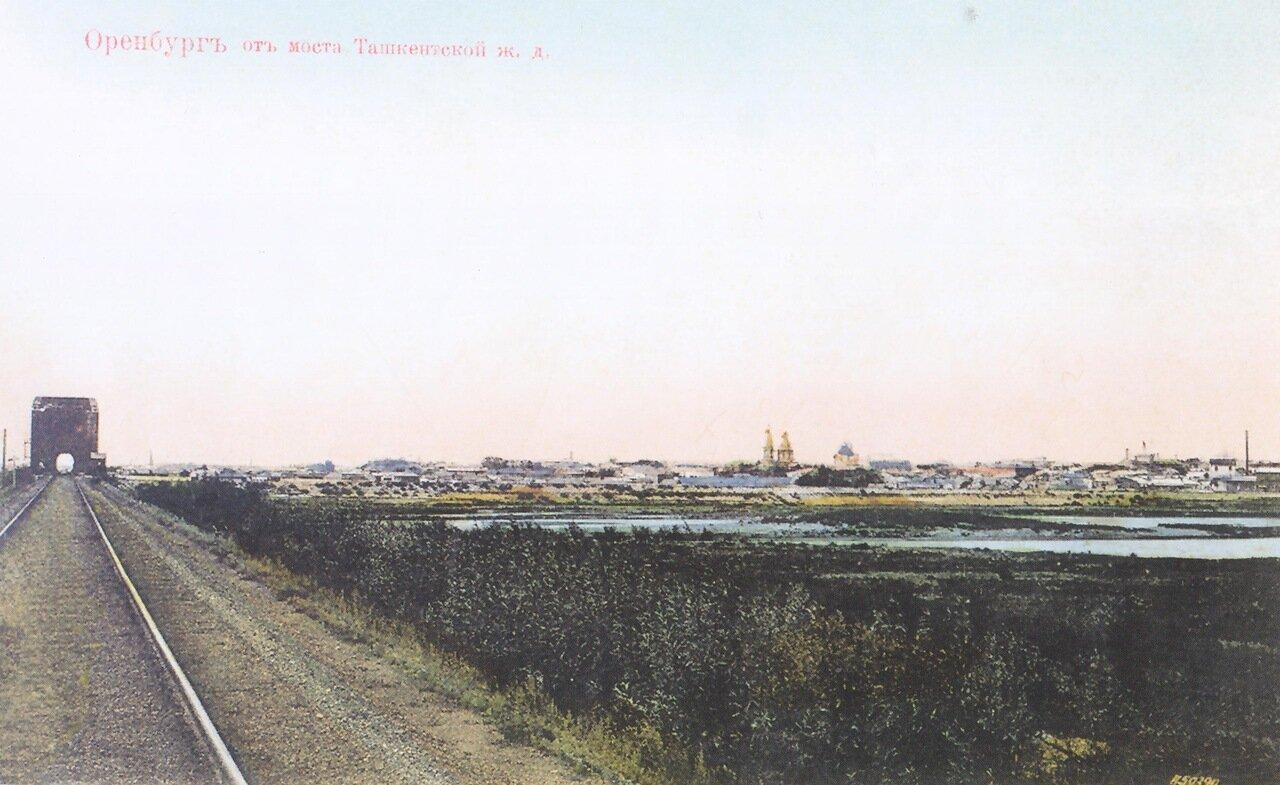 Оренбург от моста Ташкентской железной дороги