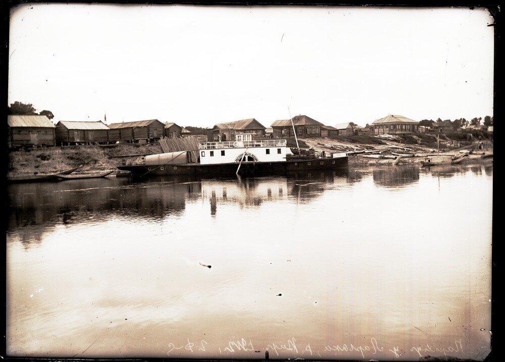 1912. Село Ларьяк. Пароход у села