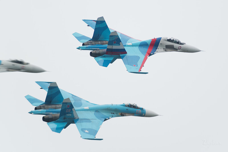 Сухой СУ-27СМ (RF-92210 / 06 красный) D802219