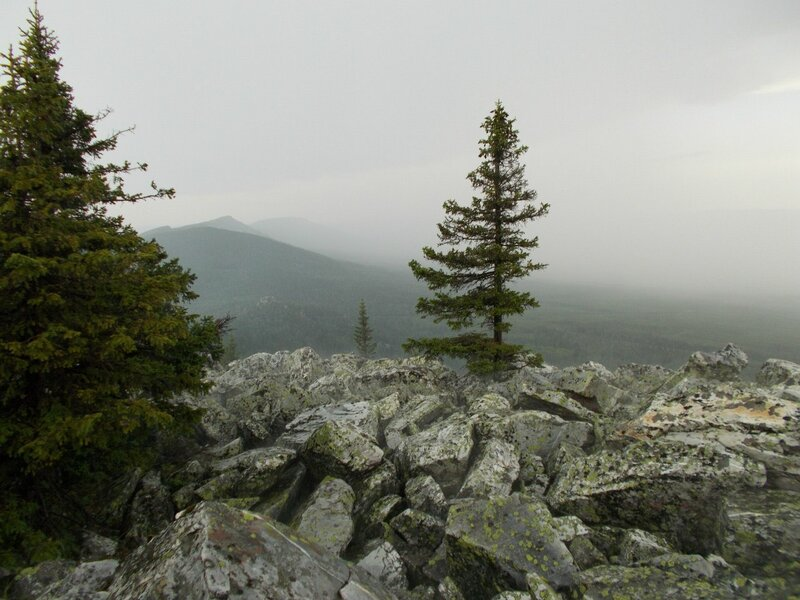 Туманное утро на вершине (23.07.2013)