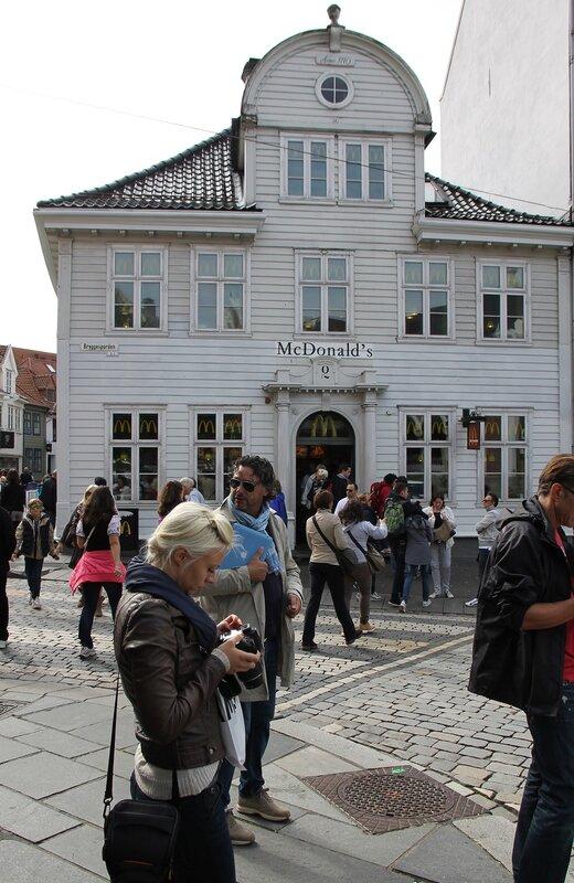 Bergen,  Vetrlidsallmenningen.  McDonald's Берген,