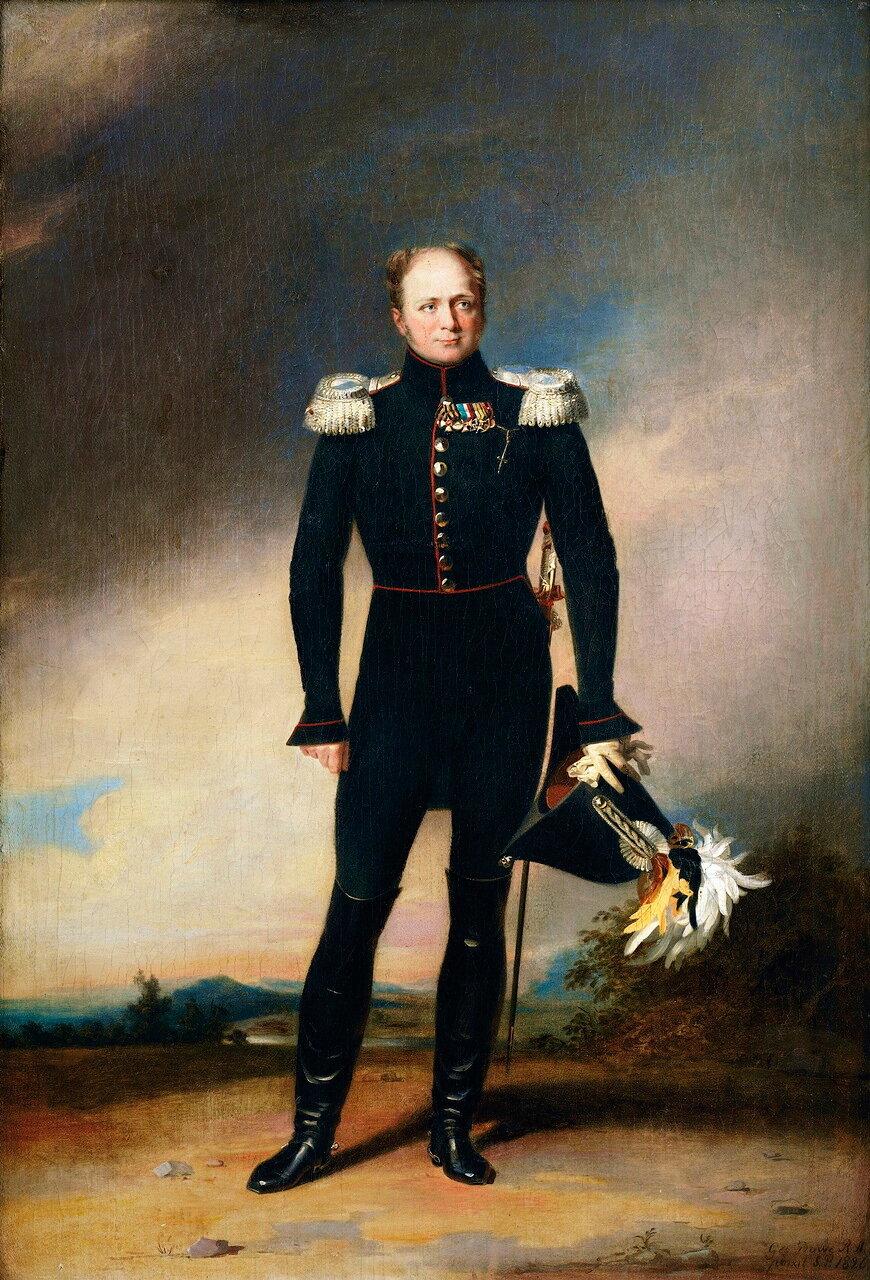 Джордж Доу (1781-1829). Портрет царя Александра I