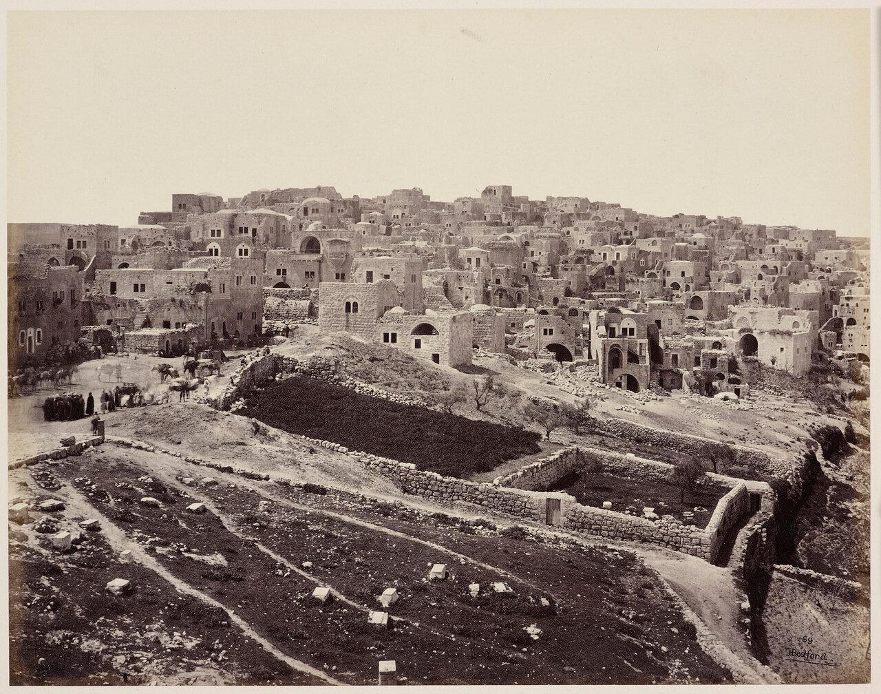 3 апреля 1862. Вифлеем с крыши монастыря