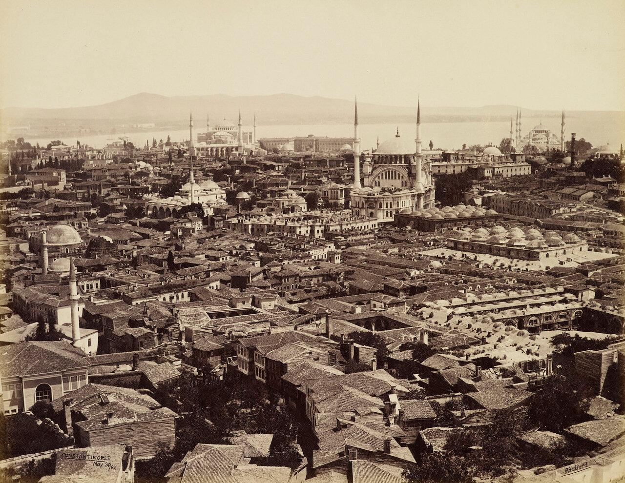 24 мая 1862. Вид с башни Сераскир. Константинополь