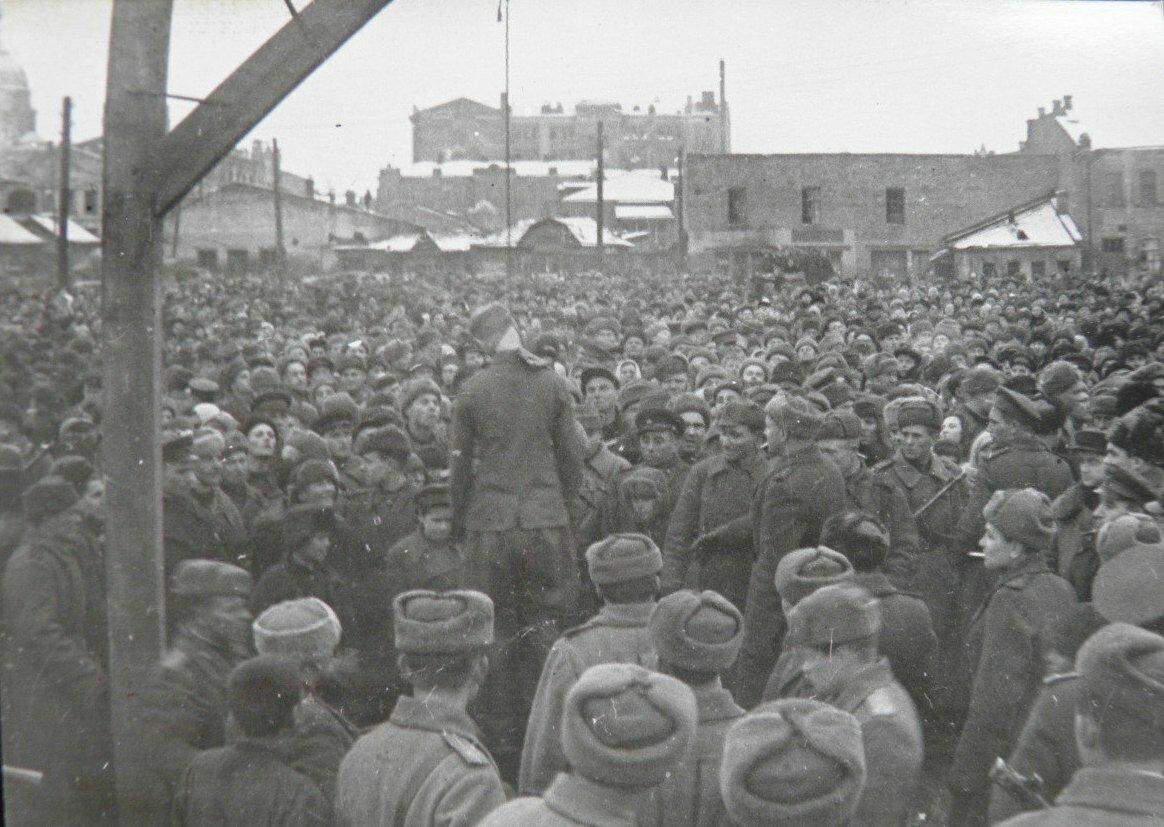 Казнь осужденных немецких офицеров в Харькове