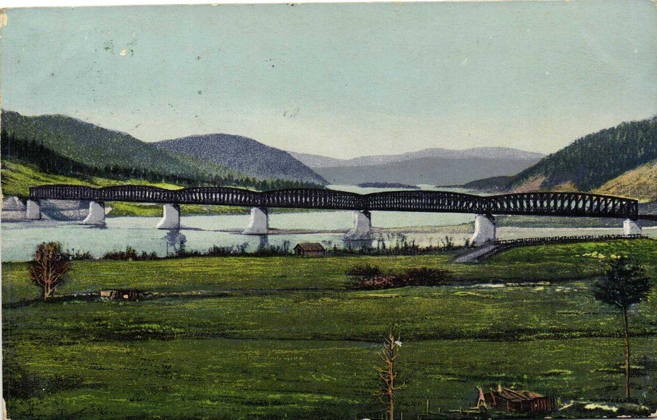 Общий вид моста через реку Селенгу на на 132-й – 133-й версте длиною 256 саженей