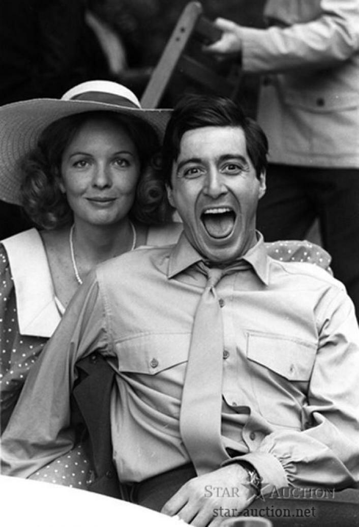 1972. Аль Пачино и Дайан Китон на съемках «Крестного отца»