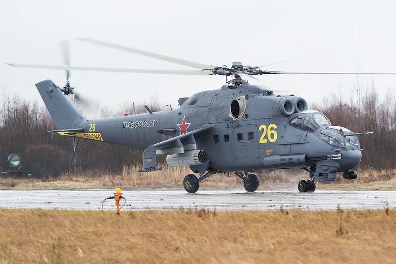 Миль Ми-24П (26 желтый) ВВС России D803343
