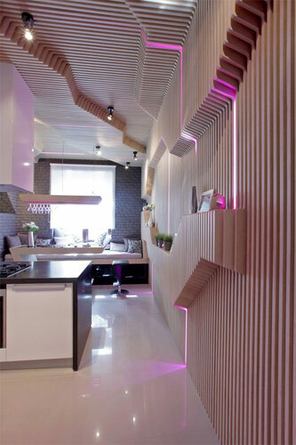 Футуристический дизайн кухни