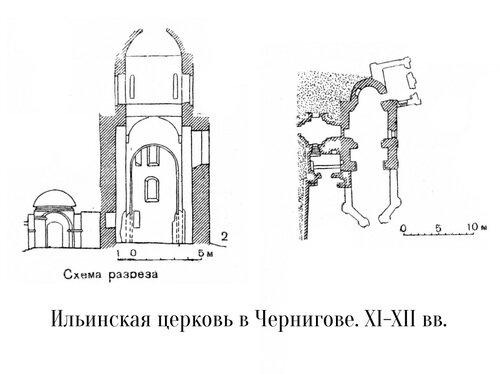 Ильинская церковь в Чернигове, чертежи