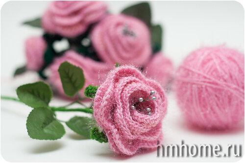 Как вязать чайную розу