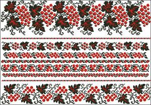 Схема вышивки свадебный рушник под ноги