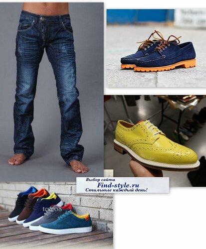 723553a2 Вариант 3: smartcasual варианты мужской обуви для смелых, ярких, творческих  натур. Летняя мужская обувь под джинсы.
