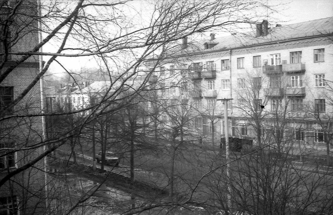 1990. Улица Мира, вид из окна дома номер 11.