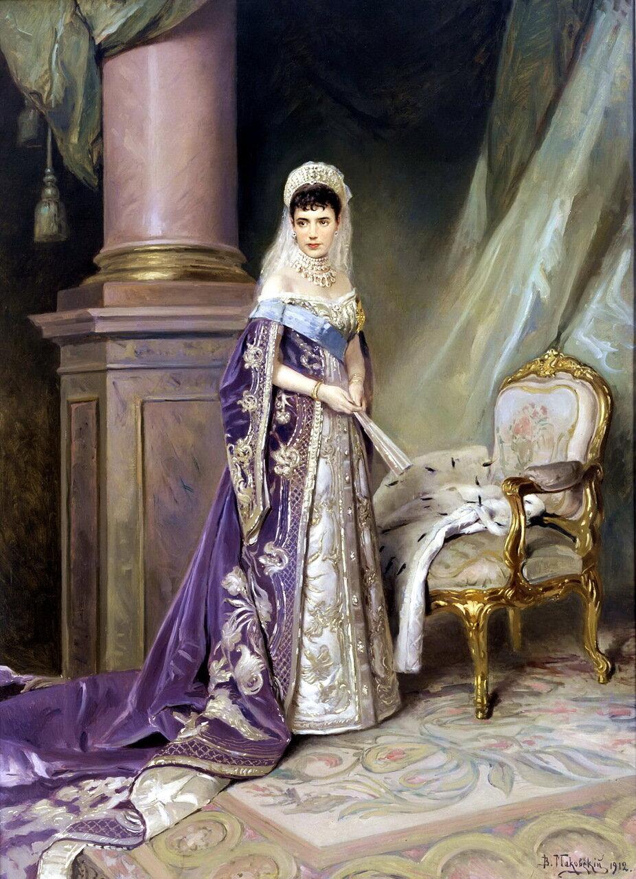 Владимир Егорович Маковский (1846-1920). Портрет императрицы Марии Фёдоровны, 1912